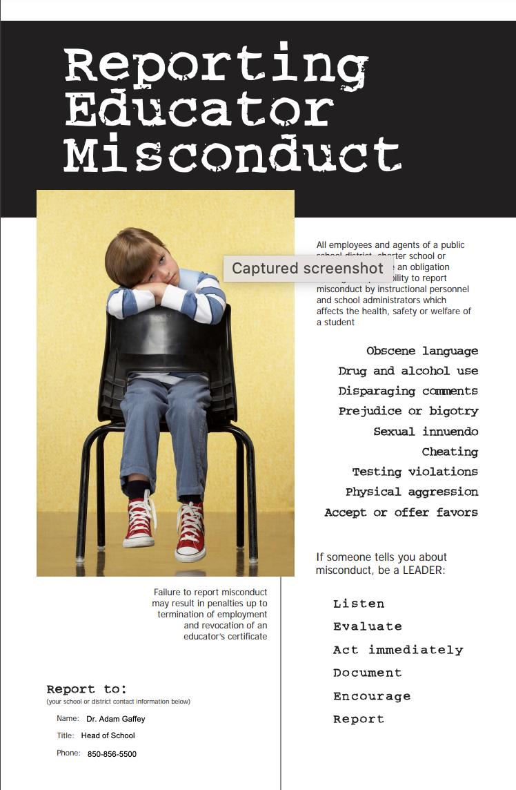 Report Educator Misconduct